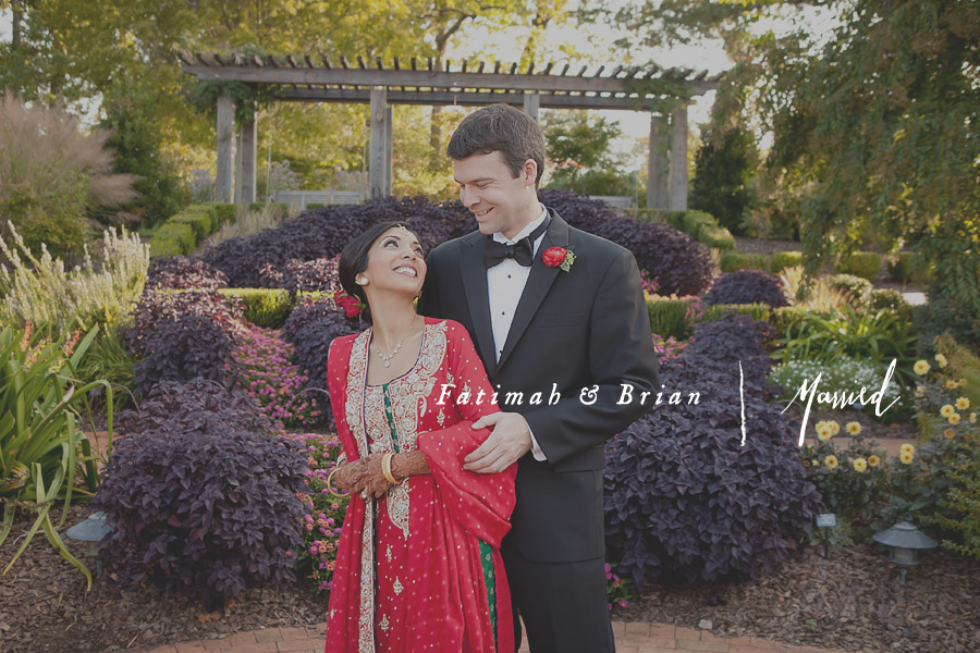Fatimah Brians Atlanta Botanical Gardens Wedding Drew Newman