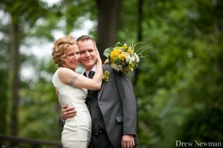 A beautiful, intimate wedding at the Atlanta Botanical Gardens captured by Drew Newman Photographers.