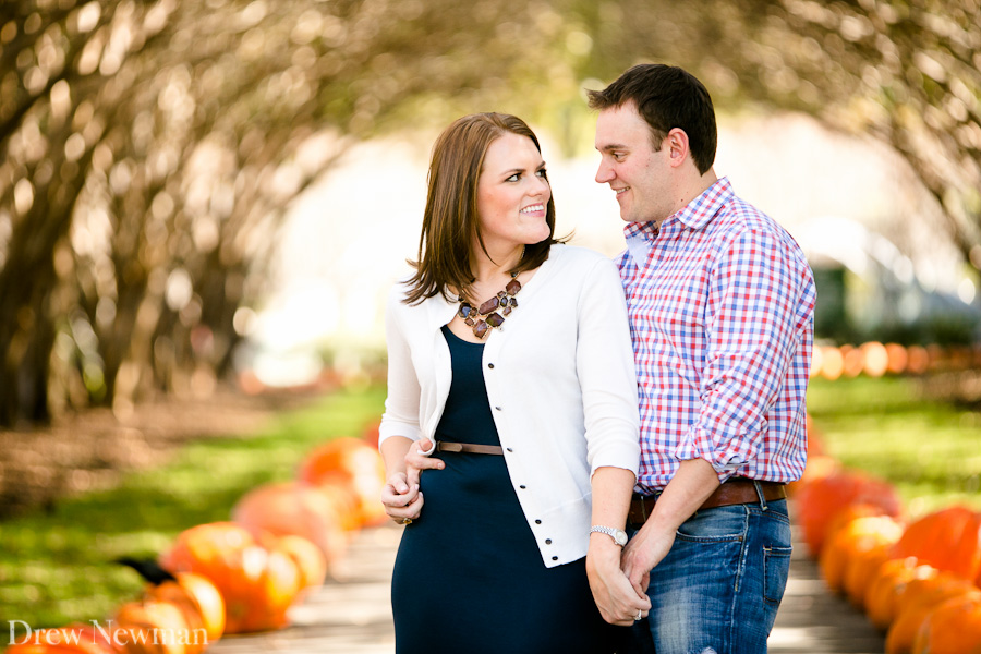 A lovely engagement session at the Dallas Arboretum and Botanical Gardens in Dallas Texas captured by Drew Newman Photographers of Atlanta Georgia.