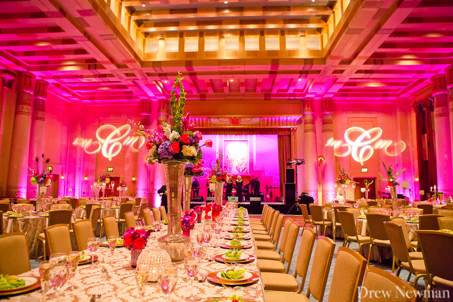 A stunning wedding at the Fox Theater of Atlanta Georgia styled by Amy DiLoreti  of A Flawless Event, captured by Drew Newman Photographers. The decor was done by Darryl Wiseman.