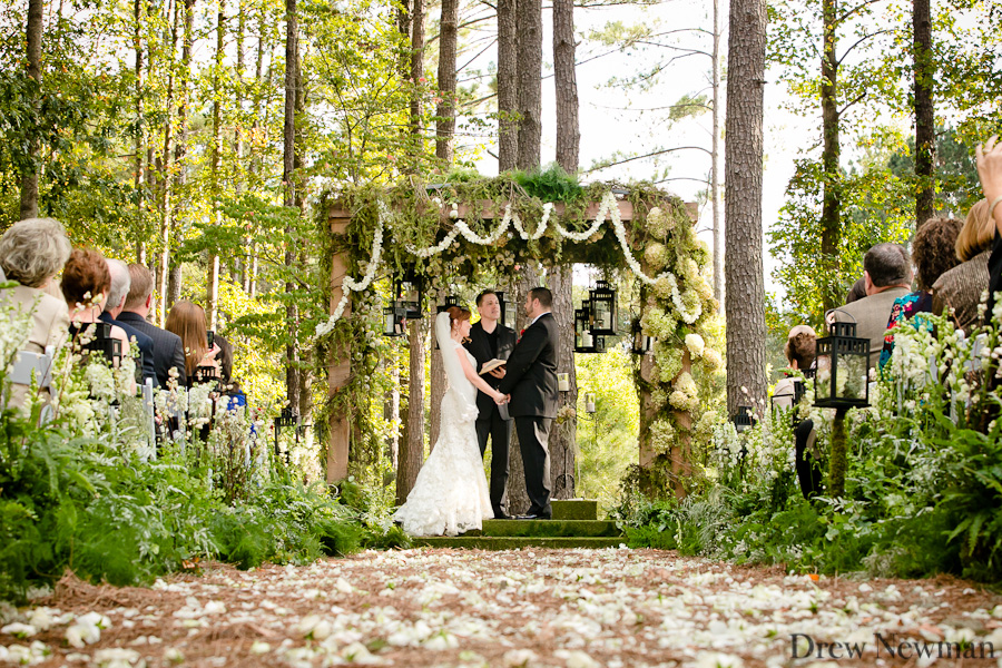 An elaborate stunning wedding at the Ritz Carlton Reynolds Plantation coordinated by Bold American Events, captured by Drew Newman Photographers of Atlanta Georgia. The decor was styled by Suzanne Reinherd and Christina Zubowicz of Magnolia Events.