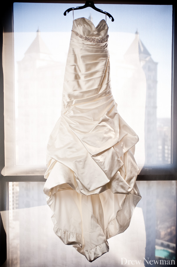 Drew Newman Photographers captures a beautiful wedding at the W Hotel in Midtown Atlanta.
